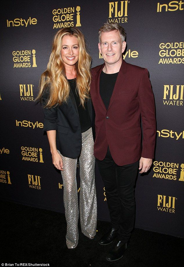 Golden couple! at Deeley, 40, and Patrick Kielty, 45, looked more loved-up than ever at the  InStyle's celebration of the Golden Globe awards season on Thursday in Los Angeles