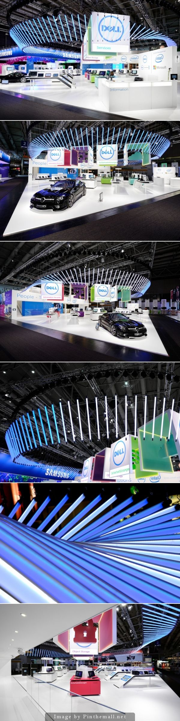 the DELL trade fair stand at CeBIT trade fair 2013 in Hanover - created via http://pinthemall.net  #display #booths #eventprofs