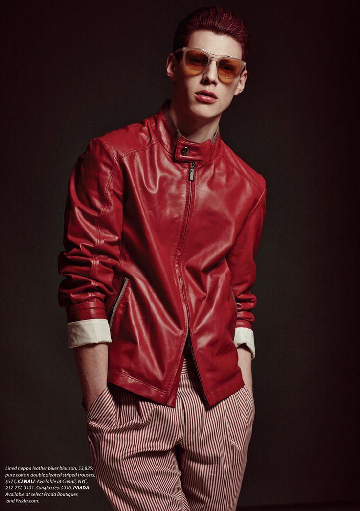 Men's casual style | leather jacket | Nemanja Maksic by AP Kim for Essential Homme