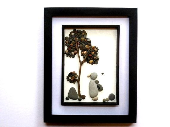 New Baby Pebble Art Picture Baby Shower Gift by PebbleSimplicity