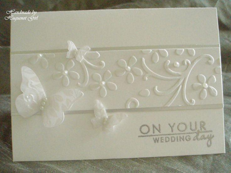 handmade wedding cards ideas | recipe card paper su shimmery white cardstock silver satin card