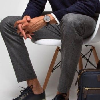 I love the look of a classic grey flannel trousers – it's one of the most versatile items in any gentleman's wardrobe.