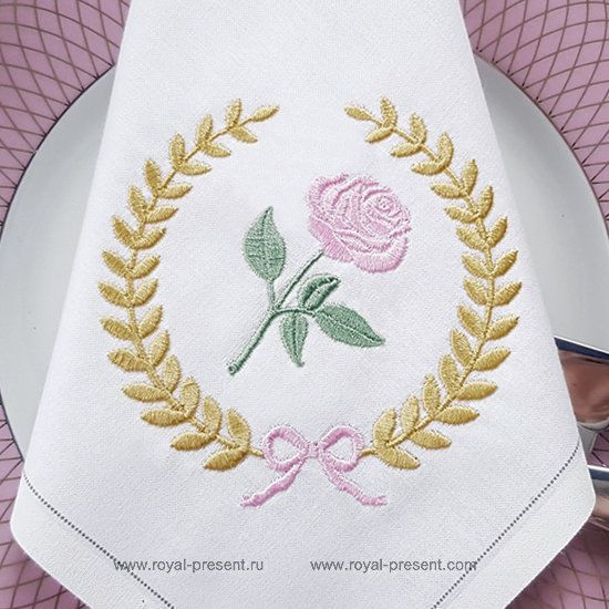 Free Machine Embroidery Design Classic Rose