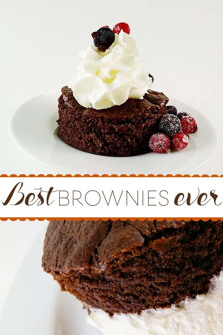 A quick and easy recipe for the best brownies ever! #dessert #chocolate #brownies.   You only need a few ingredients for these, and you can't get them wrong!