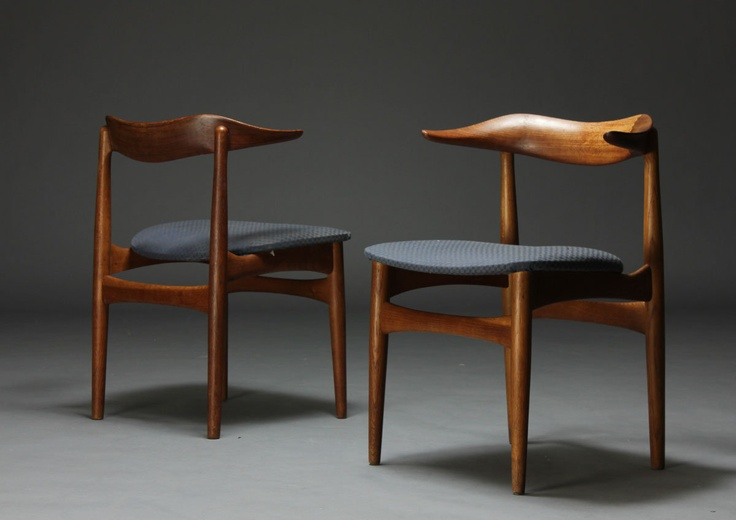 "Teak ""Kohorn"" chairs by Knud Færch and produced by Slagelse Møbelværk."