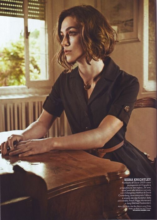 Photographed by Fabrice dell'Anese for Vanity Fair Italia - Keira Knightley