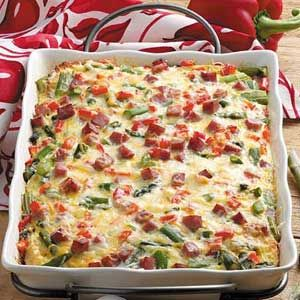 Overnight Asparagus Strata Recipe from Taste of Home -- shared by Lynn Licata Sylvania, Ohio