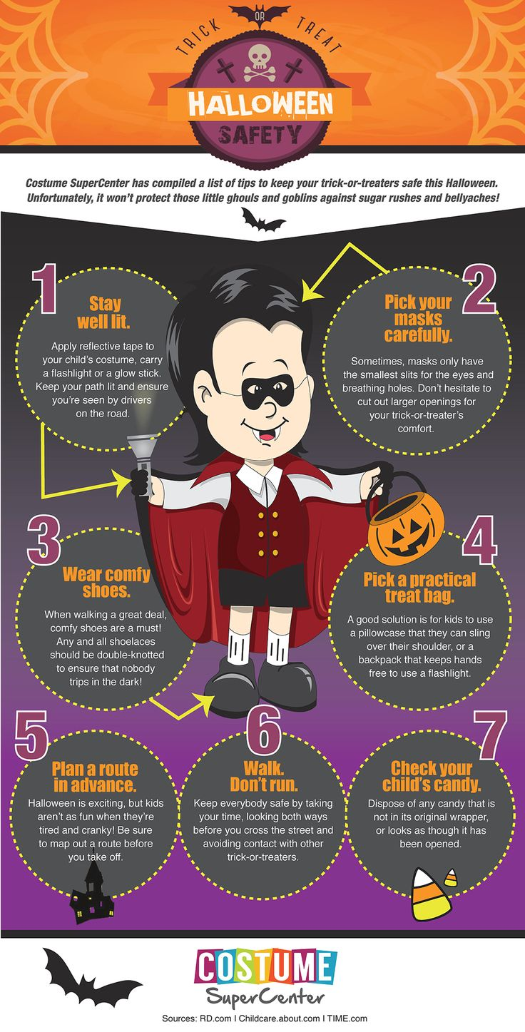Review these Trick or Treat Safety Tips to guarantee
