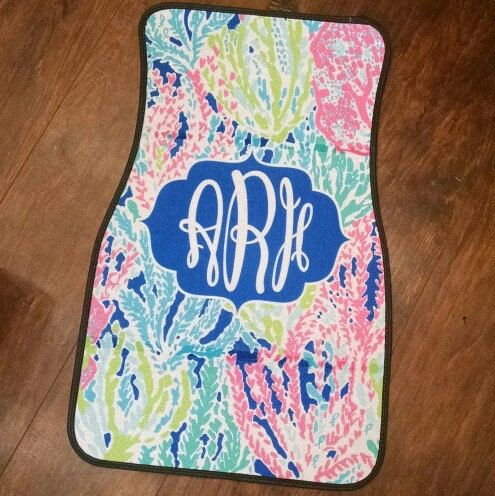 BRAND NEW Lilly inspired car floor mats are here!!!! They are so beautiful in person, and the colors are extremely vibrant! You will not be disappointed.