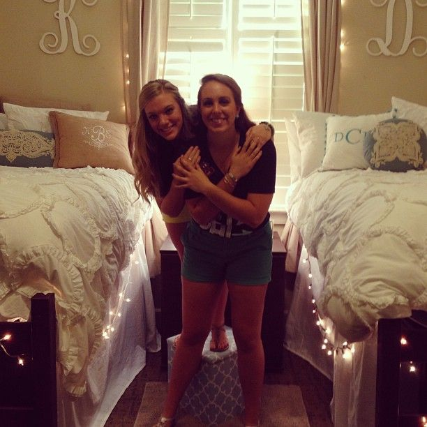 Adorable dorm room D do you see the monograms!