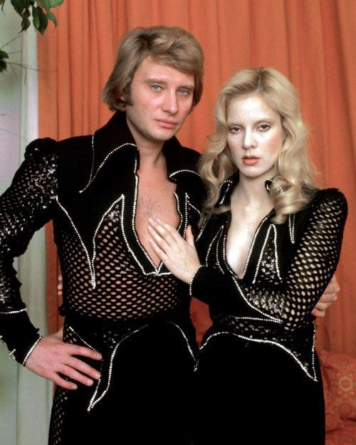 April 21, 2015   shoot me please before you catch me wearing something like this but this was the generation that defined me and my taste   Johnny Halliday and Sylvie Vartan.