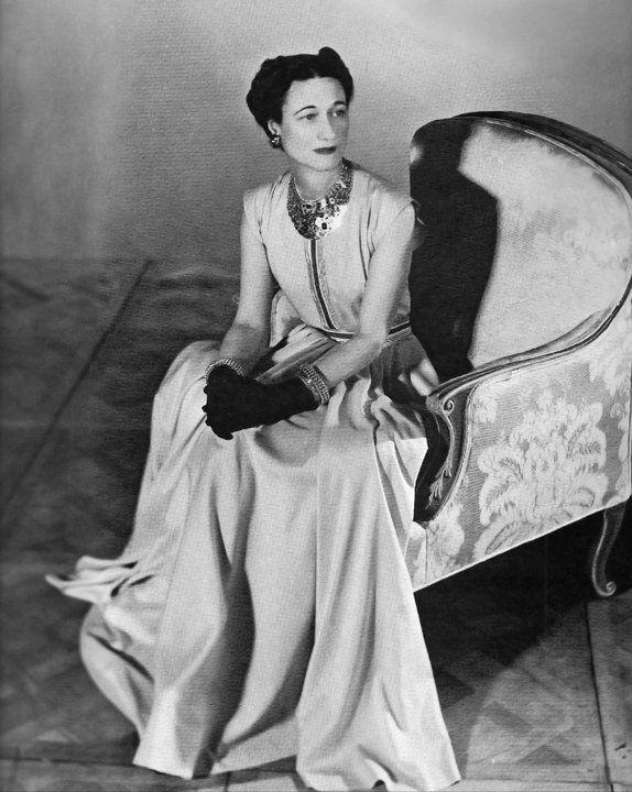 Wallis Simpson by Horst P. Horst, Vogue 1947. Dress by Mainbocher