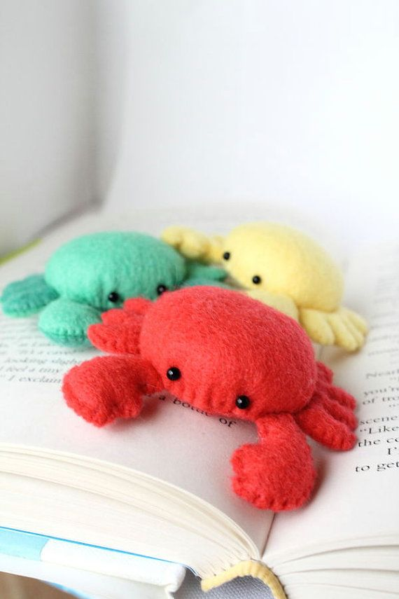 Patterns Felt Crab Pin Cushion Plush by typingwithtea on Etsy