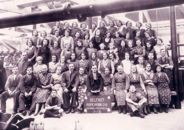 Old photos - Belfast Ropeworks 1935