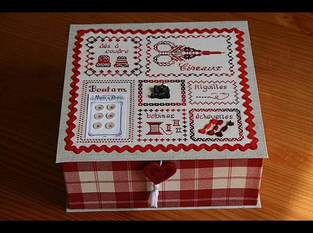 Les 315 meilleures images du tableau scatole rivestite sur for Boite a couture enfant