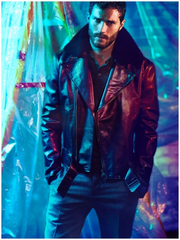 Jamie Dornan Shot by Hunter & Gatti for British GQ Shoot hair beard jacket coat men Style tumblr