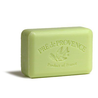 Pre de Provence 250g Shea Butter Enriched Triple Milled Bath Soap - Linden by Pre de Provence. $7.00. Fragrance name engraved on each bar. Product of France. Imported from France. 100% vegeatable. 5% Shea butter enriched. Known for their fragrant soaps enriched with Karite, shea butter, these soaps from Pre de Provence are a handful of heaven. Luxurious lather followed by amazingly soft skin. The Frenchy Bee is pleased to introduce this line to our customers.