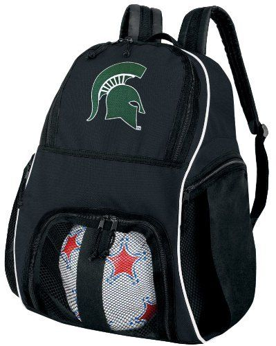 Michigan State University Ball Backpack MSU Spartans Logo Soccer Ball Bag Basketball Backpacks OFFICIAL NCAA COLLEGE LOGO by Broad Bay. $38.99. Roomy Interior, Super Strong Durable 600 Denier Fabric. Padded adjustable shoulder straps. Zippered Compartment For Ball Storage. Secure Zippered Compartments. A Unique Valentine Gift Idea!. This well made college logo Michigan State University ball backpack is the perfect solution for soccer or basketball practice. Made ...