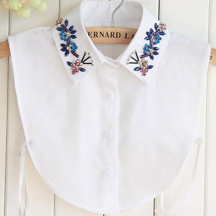 Half Shirt Style Blouse Detachable Women Girls Chic Faux Fake Lapel Shirt Collar Detachable Womens Accessories Neck Decor Cotton