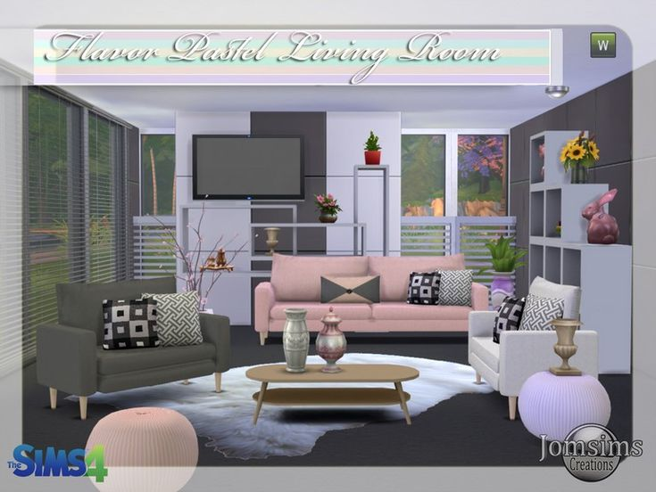 sims room 4 jomsimscreations New living room sims 4 flavor ...