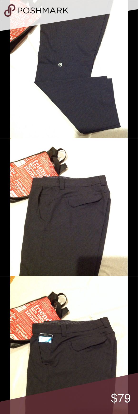 Lululemon 🍋men work to play pants size 38 Lululemon 🍋Work to Play men pants size 38 inseam 34 great condition like news rare to find they can be used as casual dress 5 pockets, large logo on left leg. lululemon athletica Pants