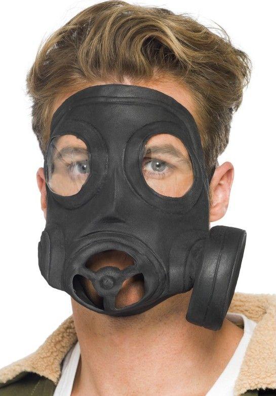Masque à gaz adulte : Masque à gaz noir pour adulte. Imitation exceptionnelle.Idéal pour vos soirées costumées entre amis.