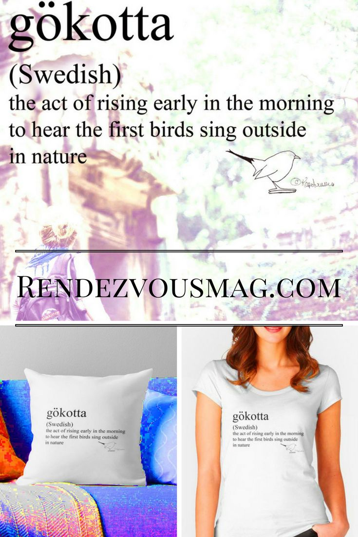 tees, pillows and tech gifts that are designed with beautiful foreign words that describe a vibe or a moment.  Dating, relationships, and personal success magazine #words #Swedish
