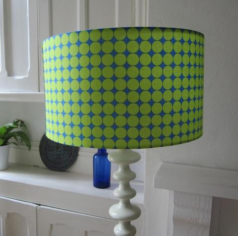 Retro print lampshade