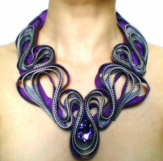 Riveria Zippe Necklace by ReborneJewelry on Etsy