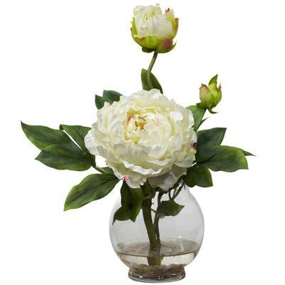 Features: -Large bloom surrounded by greenery. -Best of all, no watering required. -Color: White. -Explosion of color that demands attention. Product Type: -Flowers. Color: -Whites. Size: -Smal