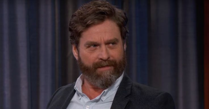 Jimmy Kimmel broke character and tossed an audience member out of the studio and Zach Galifianakis was loving it