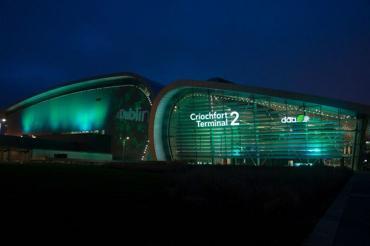 Terminal 2 at Dublin Airport has gone green for Saint Patrick's Day #GlobalGreening #SaintPatricksDay #StPatricks #PaddysDay #StPatricksDay #StPaddysDay
