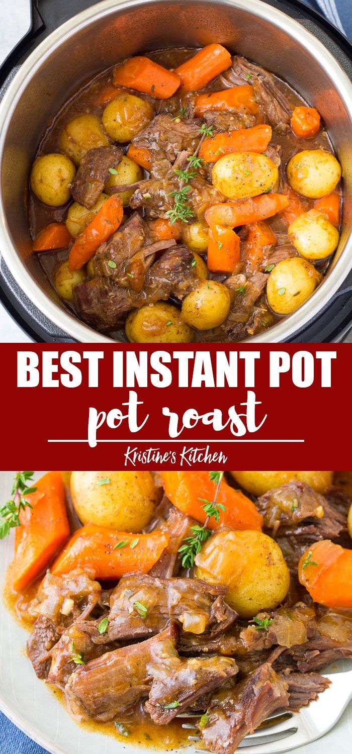 Easy Recipe For Instant Pot Pot Roast With Potatoes Carrots And A Flavorful Gravy This Beef Recipe Instant Pot Instant Pot Dinner Recipes Instant Pot Recipes