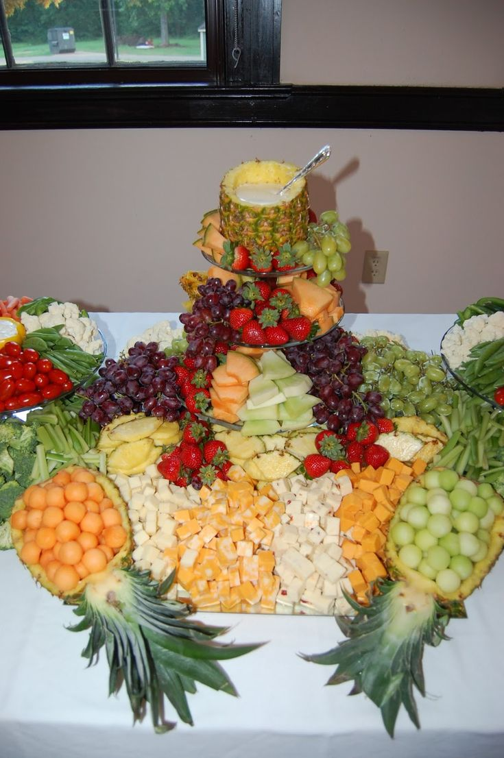 Beautiful Fruit Platter, Vegetable Platter, Wedding Table   T.V Centerpiece.