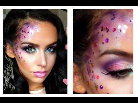 Mermaid Halloween Makeup Tutorial - YouTube