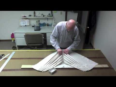 (Part 2) of how to make a swag. Please view part one for figuring yardage and pleating methods etc. For more information please contact me via email through ...