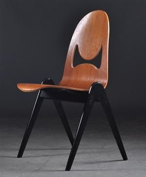Yngve Ekström; Teak Chair for ESE-Möbler, 1950s.
