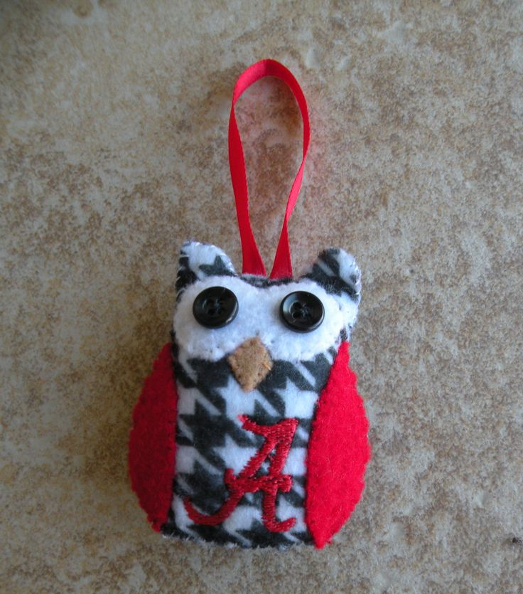 Alabama Owl Ornament -- can totally make this @Kat Baker