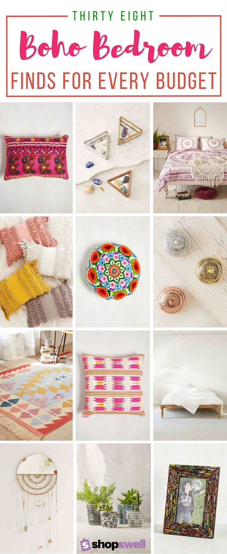 Want to bring the boho to your bedroom but don't have an unlimited budget (who does?!)? Here are 38 trendy, bohemian bedding and decor finds for every budget.