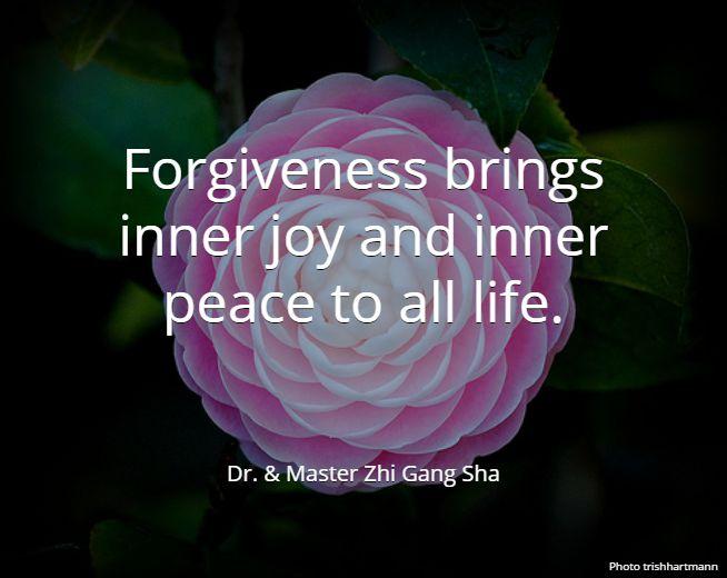 Forgiveness brings inner joy and inner peace to all life. . Dr. & Master Zhi Gang Sha #MasterSha #healing #spirituality #love #energy #forgiveness #wisdom