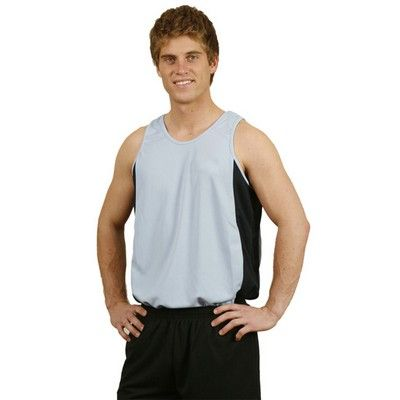 Mens Cooldry Contrast Singlet Min 25 - Clothing - Sports Uniforms - Teamwear Tees - WS-TS191 - Best Value Promotional items including Promotional Merchandise, Printed T shirts, Promotional Mugs, Promotional Clothing and Corporate Gifts from PROMOSXCHAGE - Melbourne, Sydney, Brisbane - Call 1800 PROMOS (776 667)