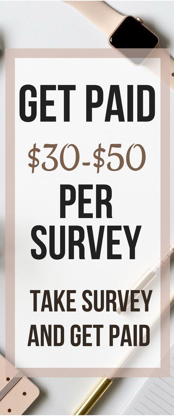 Erhalten Sie für jede Umfrage $ 30- $ 50 bezahlt….