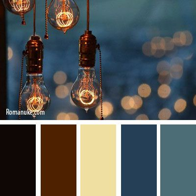 Nice warm pallete for a living room :) - blue and brown