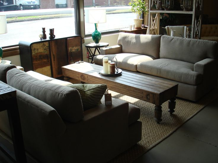 Reclaimed Wood Coffee Table Awash In, Meridian Furniture Nashville