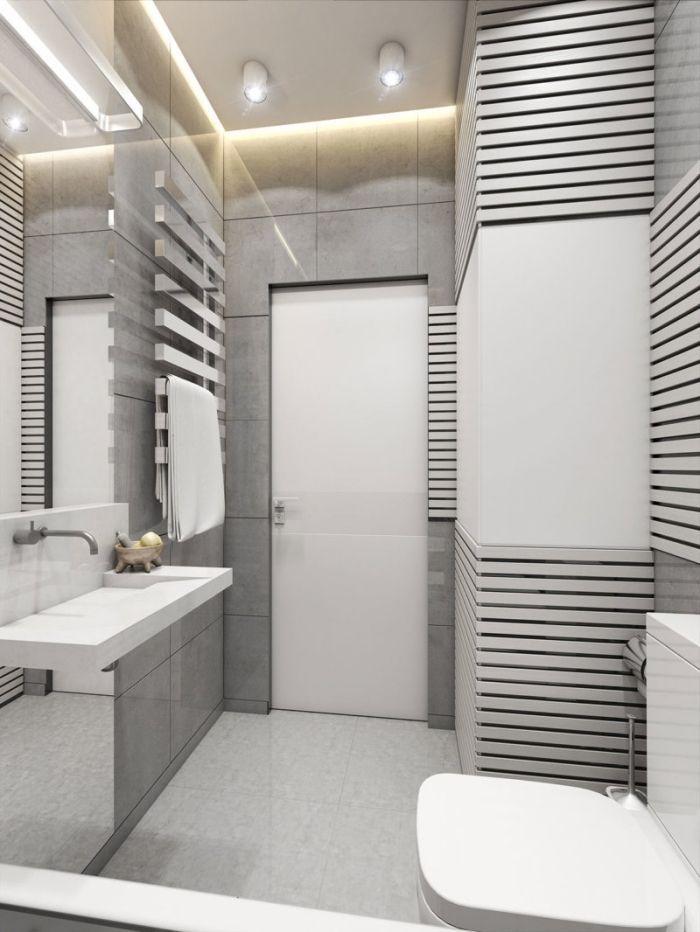 89 Design De Salle De Bain En Gris Et Blanc Design De Salle