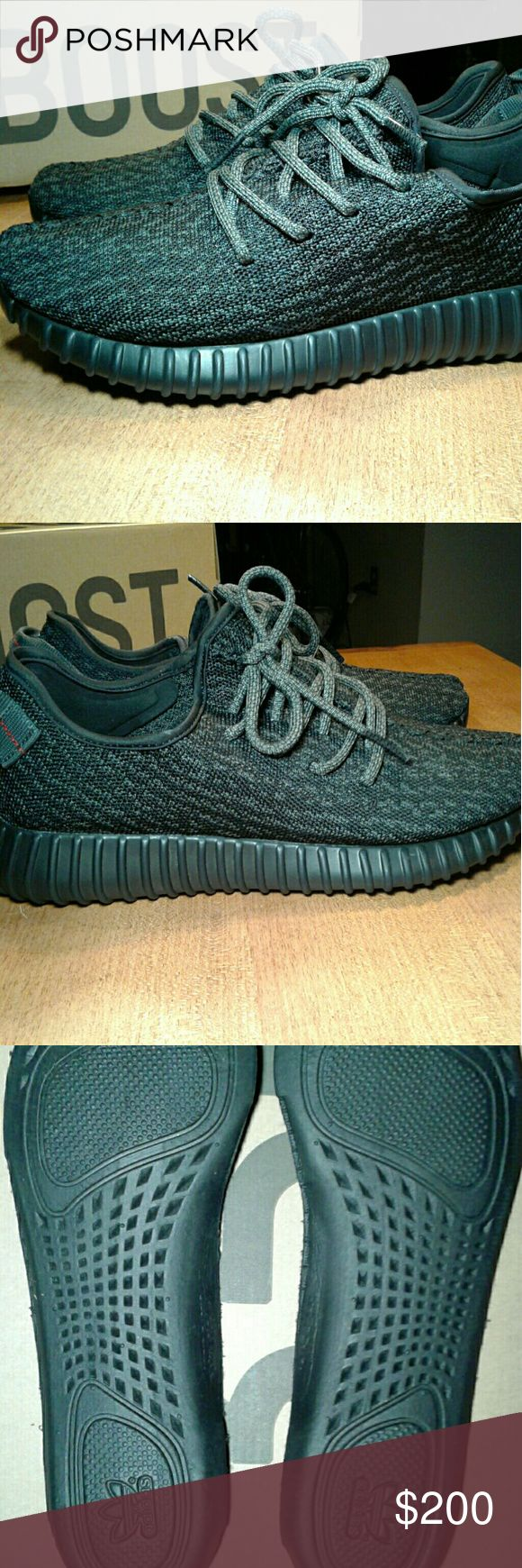 Men's Adidas Yeezy Boost Pirate Black Sneakers Perfect condition. Box goes with another pair in the family but including it just to have one. Carefully worn a couple of times. Adidas Shoes Sneakers