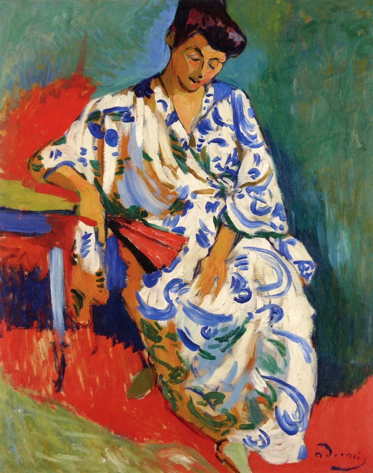 André Derain, Madame Matisse in a Kimono, 1905, Oil on canvas, 80,5 x 65 cm, Private collection