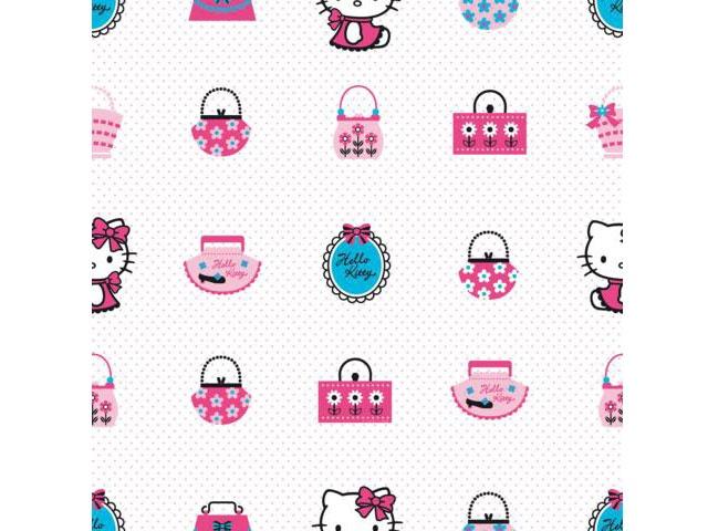 Hello kitty Fashion wallpaper behang DF 73499 LET OP LEVERTIJD -Fairplaykids