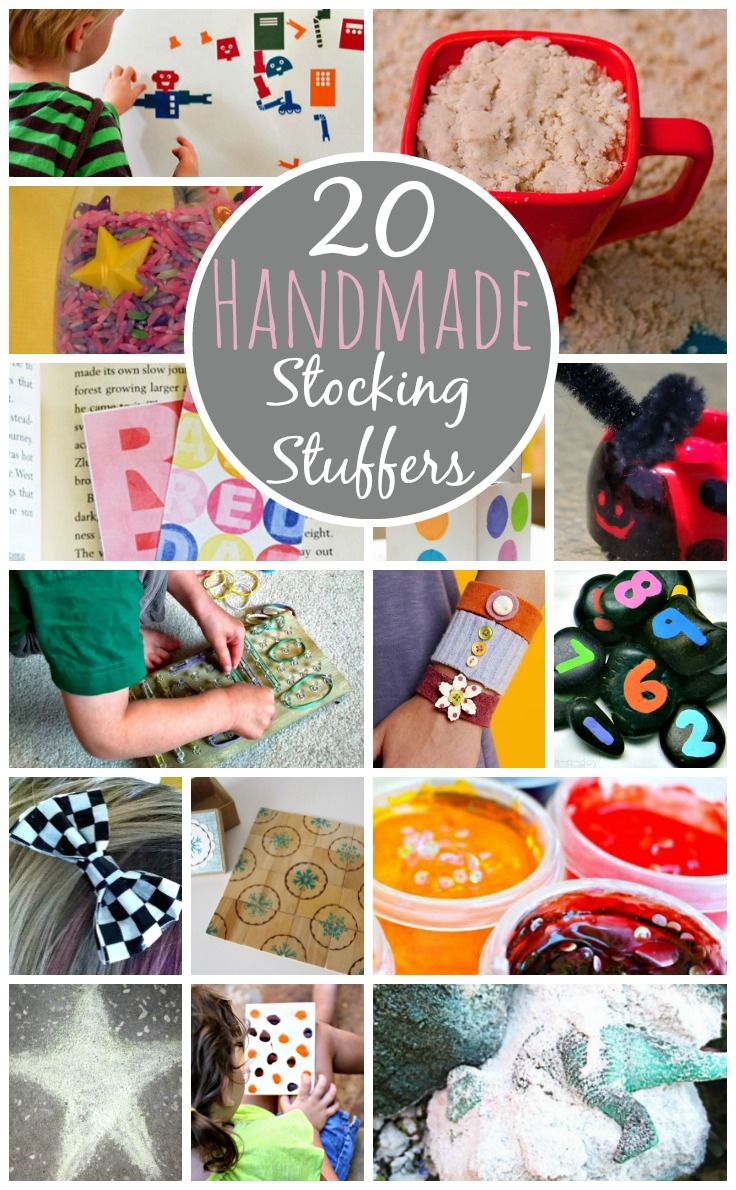 20 Handmade Stocking Stuffers. I am so doing this, I always spend way too much on stocking stuffers! #christmas