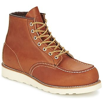 Red Wing Classic boots with a twist--white soles for a trendy flair!